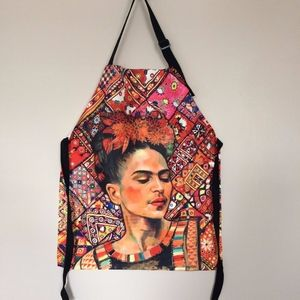 Frida Kahlo Floral Apron With 2 Pockets